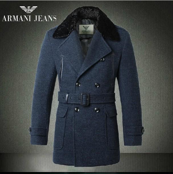 64348436de6 2019U armani manteau hommes militaires britanniques mode pas cher bleu