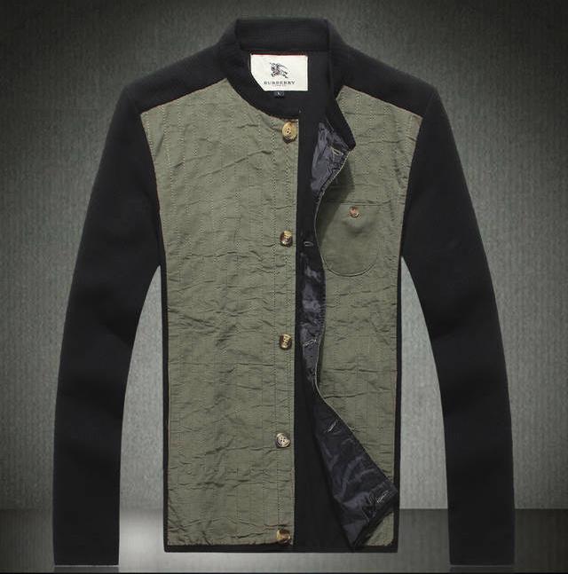 Veste Italienne Mode Burberry Sport 7vwntx Pas Hommes Noir Cher Brun xwHEA 0102222b884
