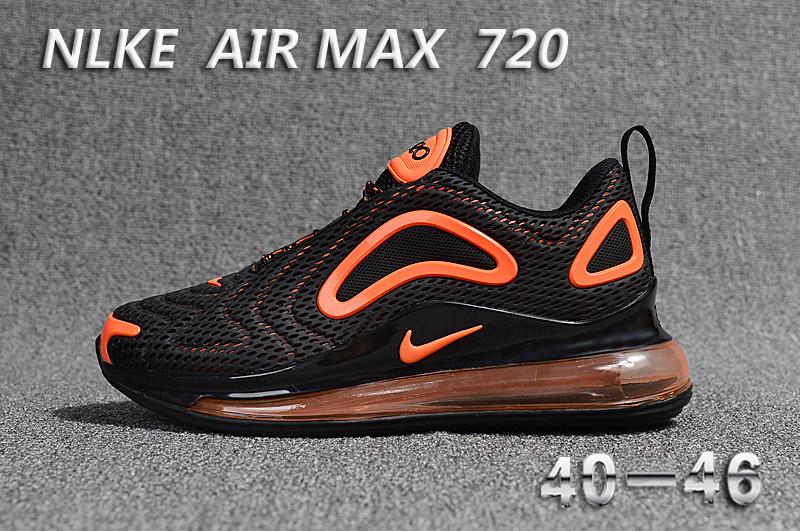 new concept 4ceb2 8d03e colorway nike air max 720 chaussures promo black orange ...