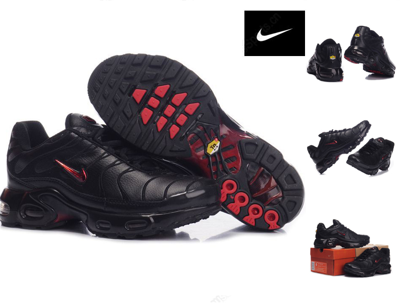 Nouveaux Air Shoes Tn Snake Chaussure Red Broderie Requin Noir Nvmn0w8