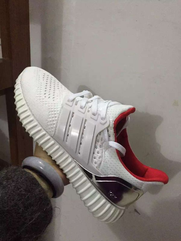 buy popular 426b9 cd8a2 adidas ultra boost technology meets the yeezy sole white silver