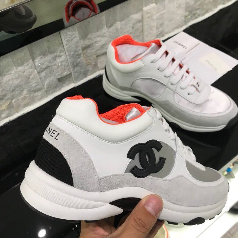 0c22bbdc58e chaussure chanel femme occasion leisure sports chaussures orange ...