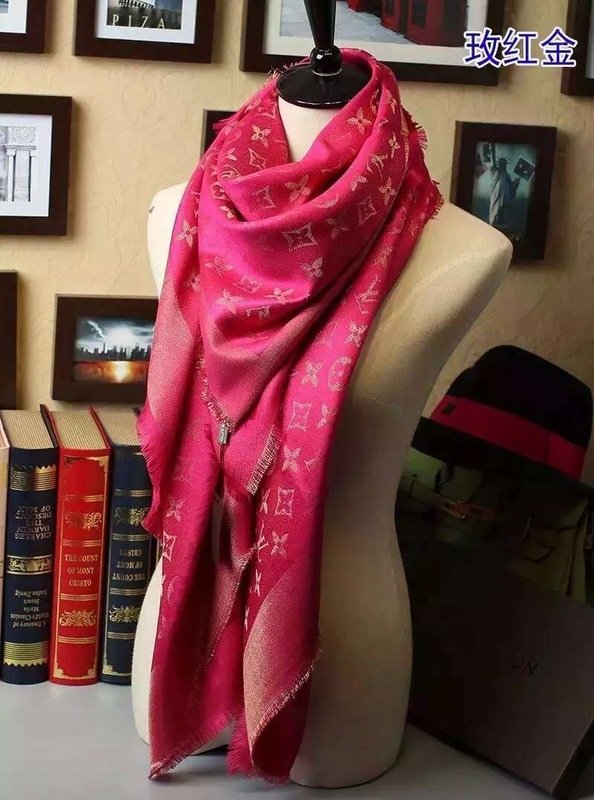 foulard louis vuitton chaudes femmes col chale fille rouge nouveaux ... 7656d0414da