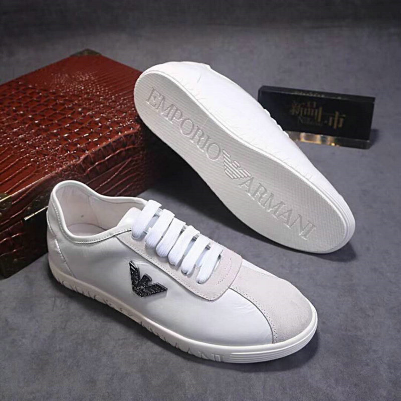 ce0ef784a32 giorgio armani chaussures sneaker tie low chaussures white nouveaux ...