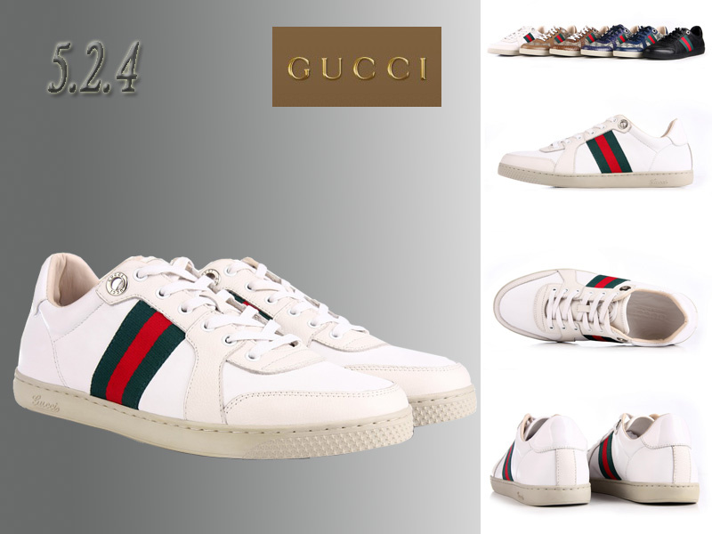 9b7ada5970d gucci sport chaussures leather header blance nouveaux