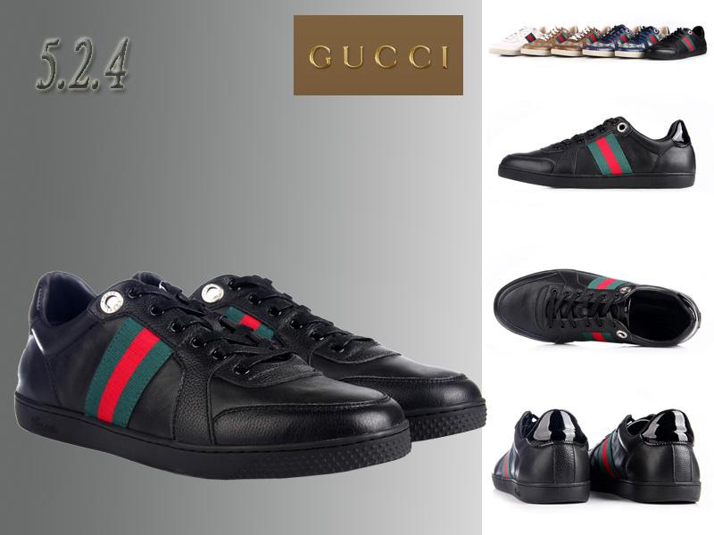 bcdb14a6f97 gucci sport chaussures leather header noir nouveaux