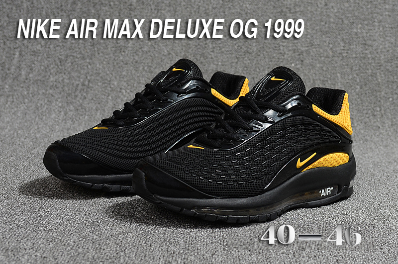 new arrival 35387 0b8d2 nike air max dlx deluxe og retro 1999 noir or