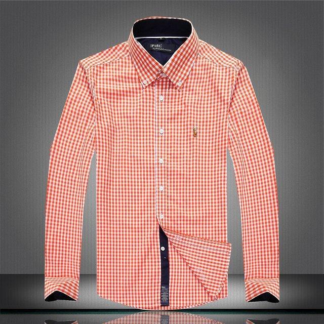 c367394b2d01f ralph lauren chemise enzo di milano 2019U coton hommes 2314 orange ...