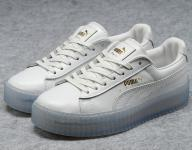 femmes chaussures puma by rihanna creeper leather jade blanc