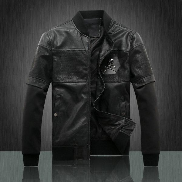 04d65d8b372 veste philipp plein leahter cuir pas cher schadel black nouveaux ...